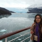 Pam and glaciers in Beagle Channel