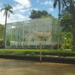 House encased in glass in El Tigre Delta