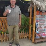 Craig outside of restaraunt in Manta
